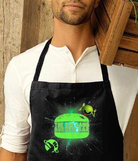 Hitchhikers Guide to the Galaxy Big Bang Burger Bar Apron